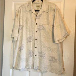 Joseph & Feiss short sleeve silk shirt SZ L